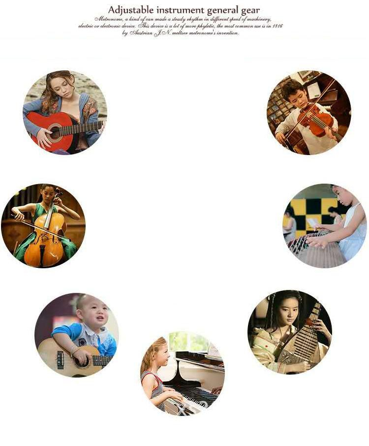 Wholesale metronome Plastic Cover portable clip Metronomes Mini Metronome for Musicians Piano Violin Guitar colorful mechanical metronome