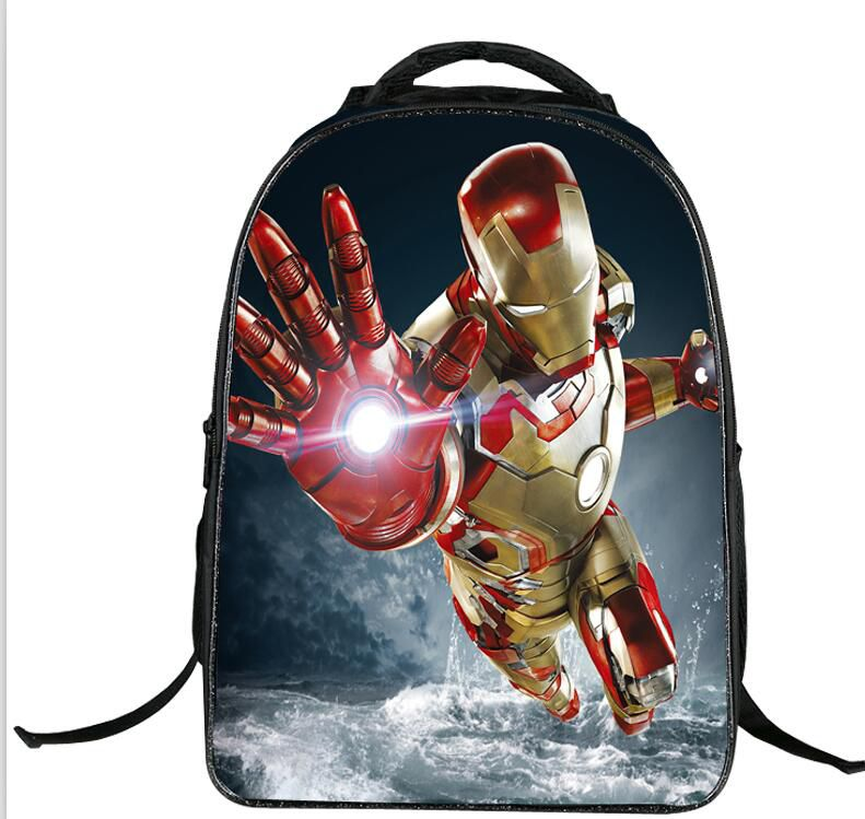 Spiderman School Bags 40CM 16inch Cartoon Animals Backpacks Plush Shoulder Bag Schoolbag Toddler Captain America Black Widow Hulk Bat Man