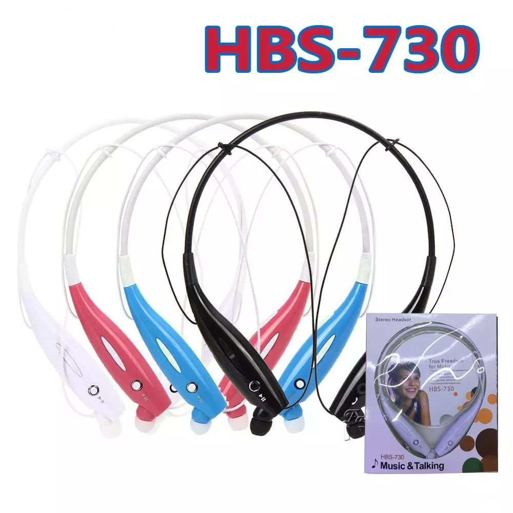 New Hbs 730 Wireless Bluetooth Headphones Neckband Hands Headset Lg Tone Free Sport Stereo Earphone
