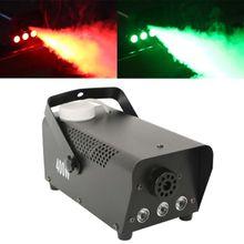 LED Fog Machine 400 Watt Smoke Fog Machine RGB 3in1 LED Light DJ Stage Wireless Remote Control Lighting DJ Party Stage Smoke Thrower