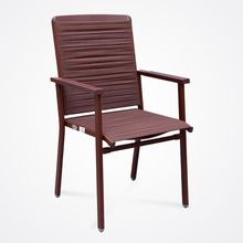 New Design Natural rubber Steel Frame Upholstered Premium rubber Seat Guest/Reception Chair - Modern Stackable Office Chair-Coffee