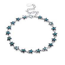 Party Star cup chain Sterling Silver ozfocus Crystal Swarovski Elements Bracelet