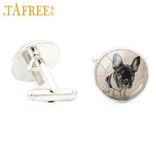 TAFREE vintage handmade animal dog cat lovers cufflinks for men wedding party jewelry elegant groom groomsman cuff links A113