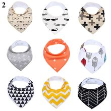 Wholesale 9 pack free shipping Infant bibs for baby Drool Bandana Baby Bibs Cotton Baby Bandana Drool Bibs With Custom Label Card