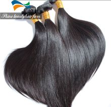 Wholesale Premiun Brazilian Unprocessed Virgin Hair Weft Straight 8-30inch Double Weft 100g/piece Natural Black Color Accepted Custom Order