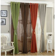 Solid Color Linen Curtains For Living Room Cloth Curtain Rustic Eco-friendly Natural Healthy