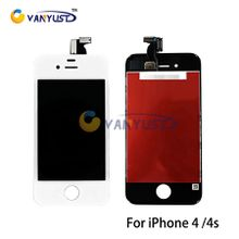 LCD Display Touch Digitizer Complete Screen Panels Full Assembly with Frame Replacement For iPhone 4 4s
