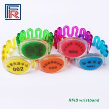 13.56MHz waterproof ABS RFID Wristband Bracelet for access control