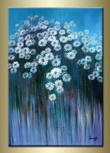 oil painting on canvas modern flower set blossom 100% handmade original directly from artist YP6 Art handmade abstract