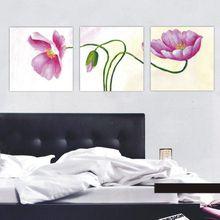 40*40cmx3p(16*16inchx3p) 100% Handmade Modern Flower Oil Painting On Canvas,Wall Art ,Top Home Decoration zsh3p018
