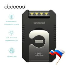 dodocool 4200mAh with 4 LED Portable Solar Charger comes with Solar Panel. For iPhone Xiaomi HTC