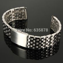 Free Shipping 18mm 20mm 22mm Stainless Steel Watch Strap Bracelet Band Double Flip Lock Button NEW order<$18no track
