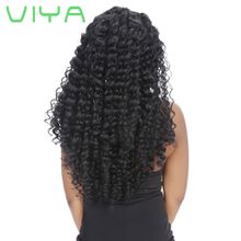 VIYA Brazilian Hair Bundles French Curl Unprocessed French Curl Human Hair Weave 3pcs Dyeable Hair Extensions WY831C