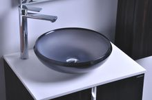 Round Bathroom Resin Counter Top Sink Vessel Cloakroom Vanity Above Counter Colourful Wash Basin RS38278-390