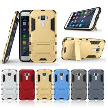Armor Case for Asus ZenFone 3 ZE552KL ZE520KL 2E Shock-Resistant Tough Skin Dual Layer Soft TPU Inside and Hard PC Cover with Holder