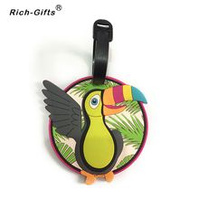 Custom Birds LOGO Promotion Souvenir Gifts Eco- Friendly PVC Traver suitcase Luggage Badges Tags(RL-081)