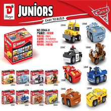 8PCS Pixar Cars 3 Lightning Juniors Smokey's Garage Thunder Hollow Crazy Bricks Model Building Blocks Children Gift Toys Dargo 1004
