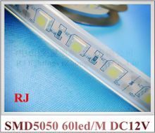 waterproof IP65 SMD 5050 LED strip light LED soft strip DC12V SMD5050 60 led / M IP65 silicon tube waterproof