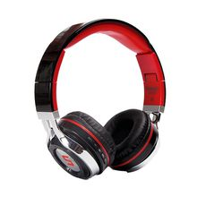 Bluetooth headset, stereo headset, portable HD sound (red)