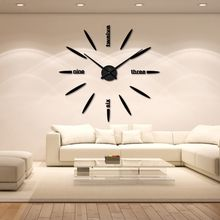Wholesale-Acrylic Sticker Wall Clock Modern DIY Analog 3D Mirror Surface Numbers House Decoration Fashion Clock for Living Room