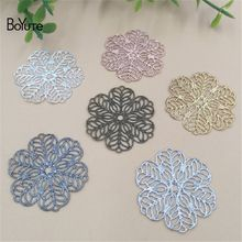 BoYuTe 100Pcs 7 Colors 26MM Metal Brass Filigree Flower Charms Diy Jewelry Findings Components