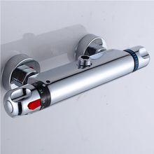 Limited New Four Points Down Shower Faucets Constant Temperature Faucet Mix Water Valve Full Copper For Thermostatic Core