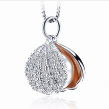 sterling silver natural freshwater shell shape pearl Pendant