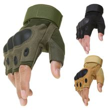Sport Outdoor Tactical Army Airsoft Shooting Bicycle Combat Fingerless Paintball Hard Carbon Knuckle Half Finger Cycling Gloves