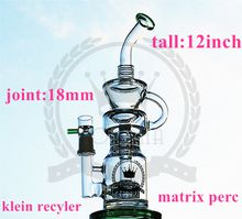 double recycler bong dab rig glass bong klein vapor recycler oil rig glass water pipe pulse bio dab oil rig bong glass hookahs