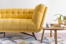 Lifestyle Solutions Viola Microfiber Sofa In Dark Grey