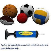 Wedding balloon football manual air pump basketball plastic portable air pump mini inflatable needle.