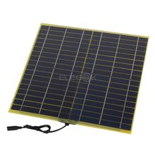 15W 18V DC Output Monocrystalline Solar Cell Panel Silicon Glass Fiber Solar Panel with Alligator Clip for Solar System