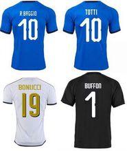 World cup 2018 Maglie calcio Italy Soccer Jersey Totti white away Pirlo Italia goalkeeper Gianluigi Buffon Ciro Immobile shirt 18 19