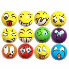 Upgrade Emoji Squeeze Toys Happy Face Angry Hand Stress Balls 3inches 6.5CM Anti-Stress Mesh Face Reliever Decompression Novelty Toy Squishy