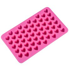 Silicon chocolate molds heart shape 66 holes silicon cake mold silicon ice tray jelly moulds soap mold cake bakeware tools 11x18.5x1.4cm