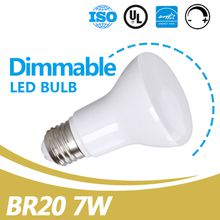 China Supplier Led Lighting Equivalent 50W 550lm E26 7W Dimmable BR20 Soft White Led Bulb UL Energy Star Listed