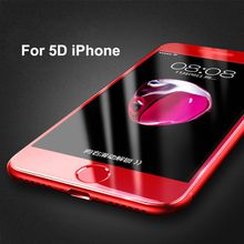 For iPhone 7 Plus 5D Tempered Glass Screen Protector Film For iPhone 8 X 0.20mm Ultra-thin 9H Phone Front Screen Protector