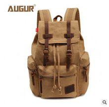 Foreign trade canvas bag fashion casual bag computer backpack students leisure bag. Adjustable shoulder strap. High quality metal buckle.