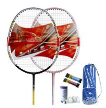100% carbon badminton racket 2pcs in a pack,high quality graphite fibre materials,with cover,shuttlecock and grips free of charge