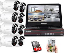 insoer H.264 960P Nvr Video Surveillance Wifi 8 Wireless Security Camera System with Monitor