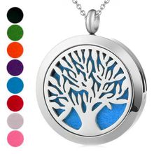 Custom Magnet Women Perfume Diffuser Jewelry Women 316L Stainless Steel Aromatherapy Essential Oil Locket Pendant Necklace