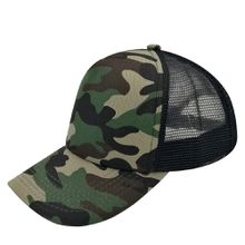 5 Panels Trucker Caps Hats Camouflage Camping Hat 100% Cotton Fitted Styles for Men Women
