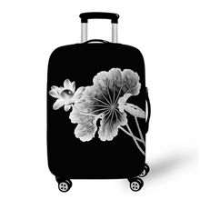 Sale Customized Brand New Quality Popular Fashion Flower Water Lily Women Protect Spandex Elastic Luggage Covers