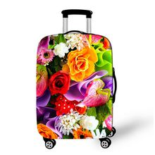 China Factory Sale Customized Brand New Quality Popular Fashion Flower Water Lily Women Protect Spandex Elastic Suitcase Cover