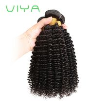VIYA Indian Hair Bundles Kinky Curly Unprocessed Kinky Curly Human Hair Weave 3pcs Dyeable Hair Extensions