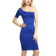BOFUTE New Europe America Spring Summer Women's Dresses Sexy Nightclubs Strapless Shoulder Large Size Dress 16025