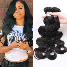 Brazilian Body Wave 1piece 8A Unprocessed Brazilian Virgin Hair 100g/pc Natural Black Color Human Hair Weave Bundles