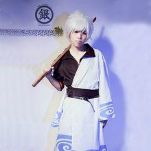Sakata Gintoki cosplay costumes full set Japanese anime Gintama clothing Masquerade/Mardi Gras/Carnival costumes