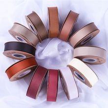 Grosgrain Ribbon 196 Colours Brown Color System 3mm-100mm Width 100yards/Full Roll Reel 100% Polyester High Quality Factory Wholesale