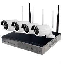 Ebest NK72004 4CH HD Wireless NVR Kits Waterproof 720P WiFi IP Bullet Camera P2P CCTV Security System with 4 Cameras and Mouse
